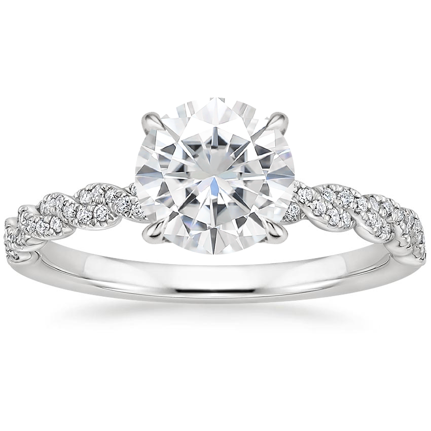 Moissanite Cadence Diamond Ring in Platinum
