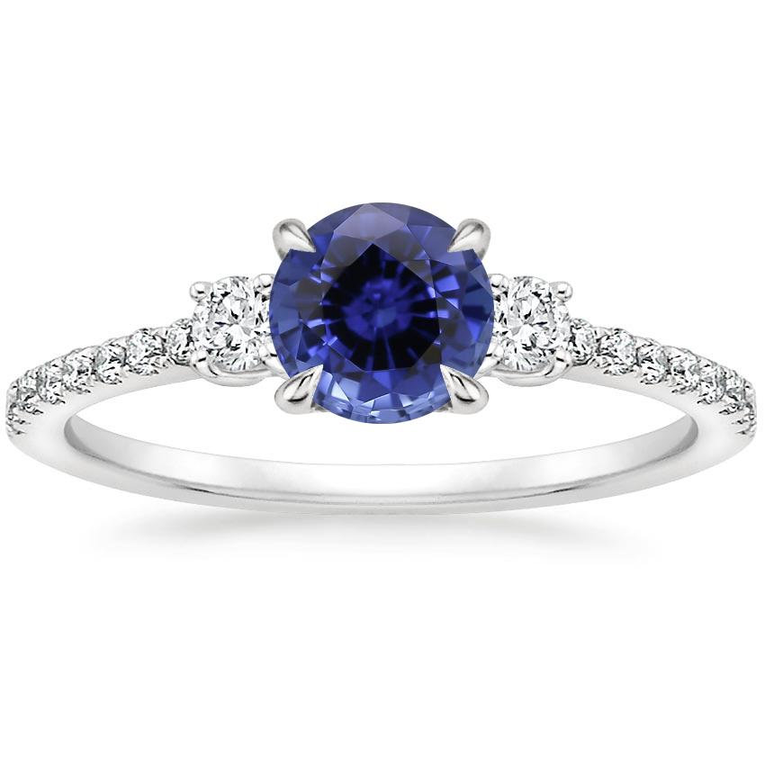 Sapphire Lyra Diamond Ring (1/4 ct. tw.) in 18K White Gold