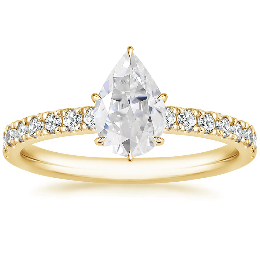 Yellow Gold Moissanite Clara Diamond Ring