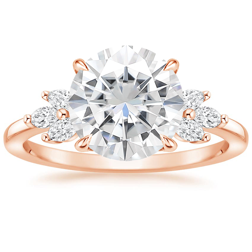 Rose Gold Moissanite Stella Diamond Ring