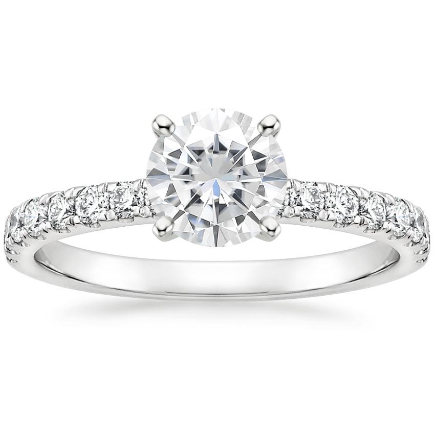 Moissanite Constance Diamond Ring (1/3 ct. tw.) in Platinum