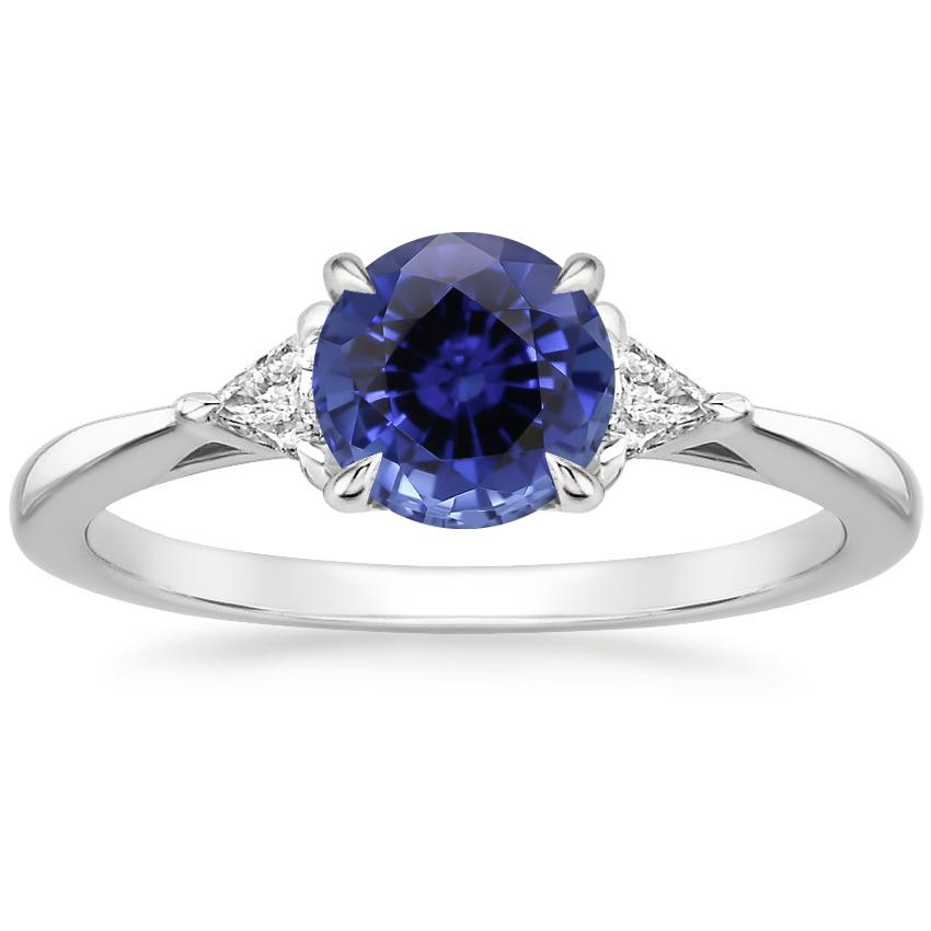 Sapphire Esprit Diamond Ring in 18K White Gold