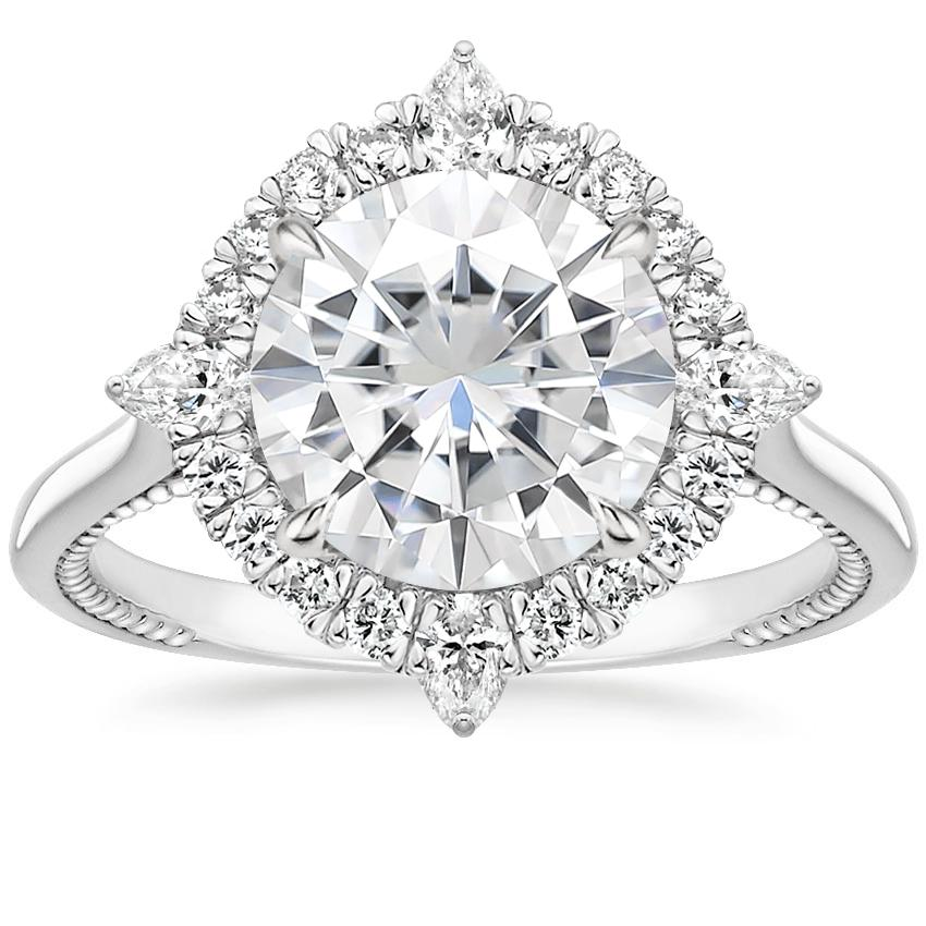 Moissanite Dahlia Diamond Ring (1/3 ct. tw.) in Platinum