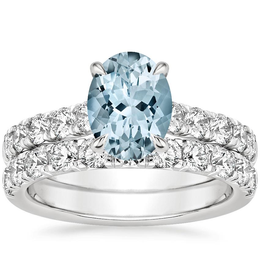 PT Aquamarine Luxe Anthology Bridal Set (1 1/5 ct. tw.), top view