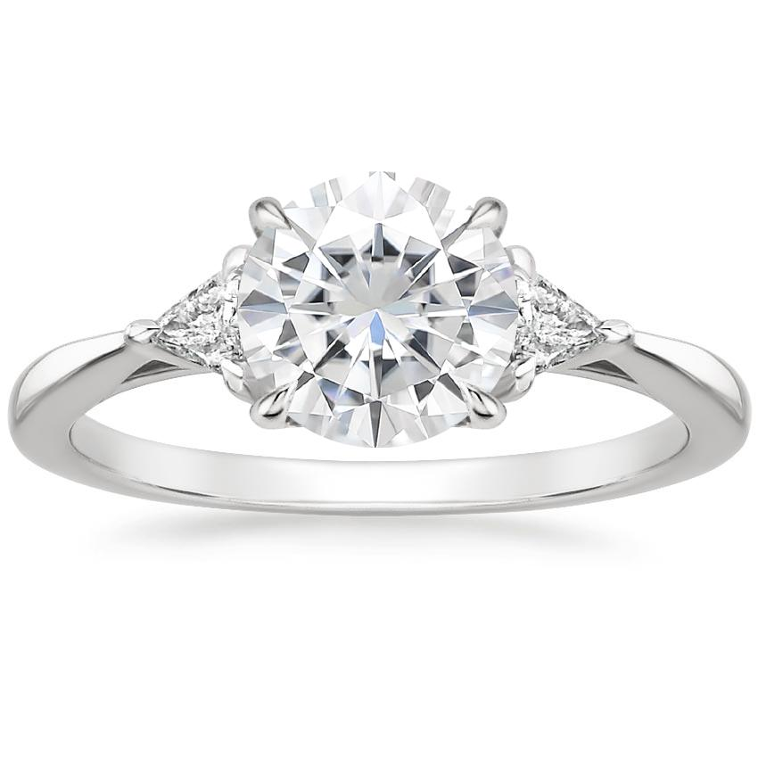 Moissanite Esprit Diamond Ring in 18K White Gold