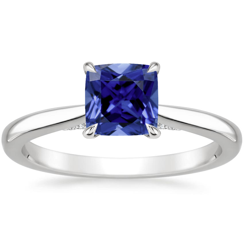 Sapphire Dawn Diamond Ring in 18K White Gold