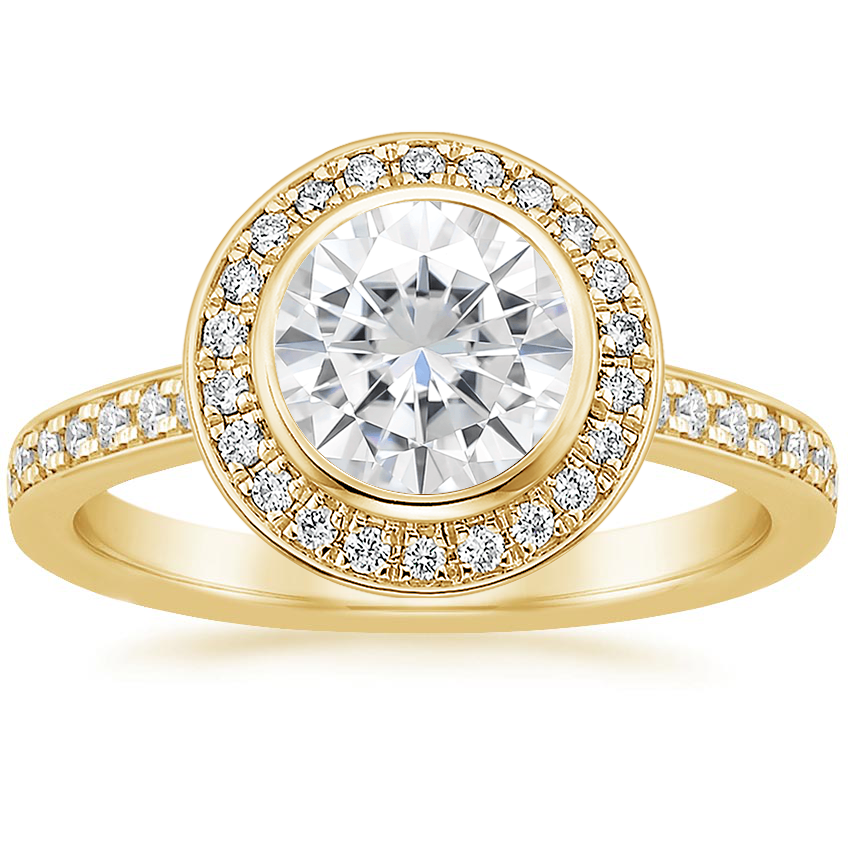 Yellow Gold Moissanite Malia Diamond Ring (1/4 ct. tw.)