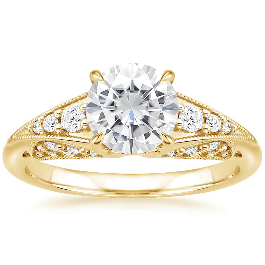 Yellow Gold Moissanite Serafina Diamond Ring (1/4 ct. tw.)