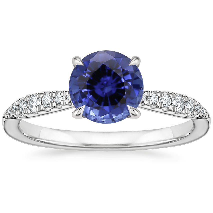Sapphire Emmeline Diamond Ring in 18K White Gold