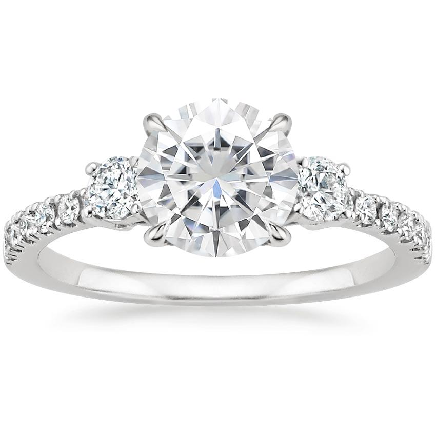 Moissanite Radiance Diamond Ring (1/3 ct. tw.) in 18K White Gold
