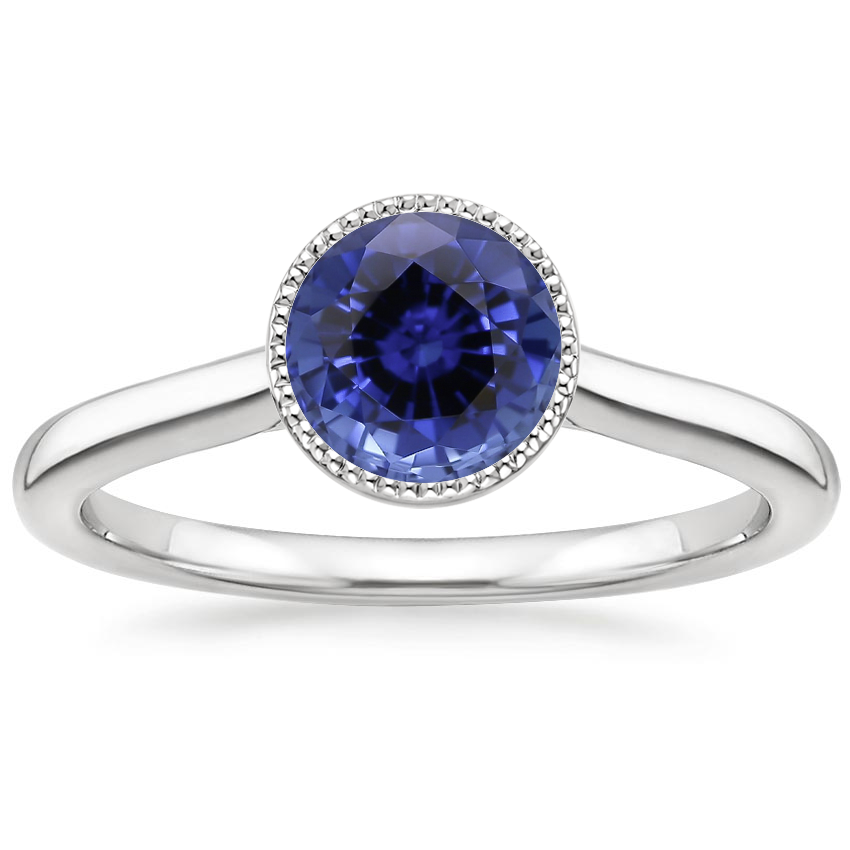 Sapphire Margot Ring in 18K White Gold