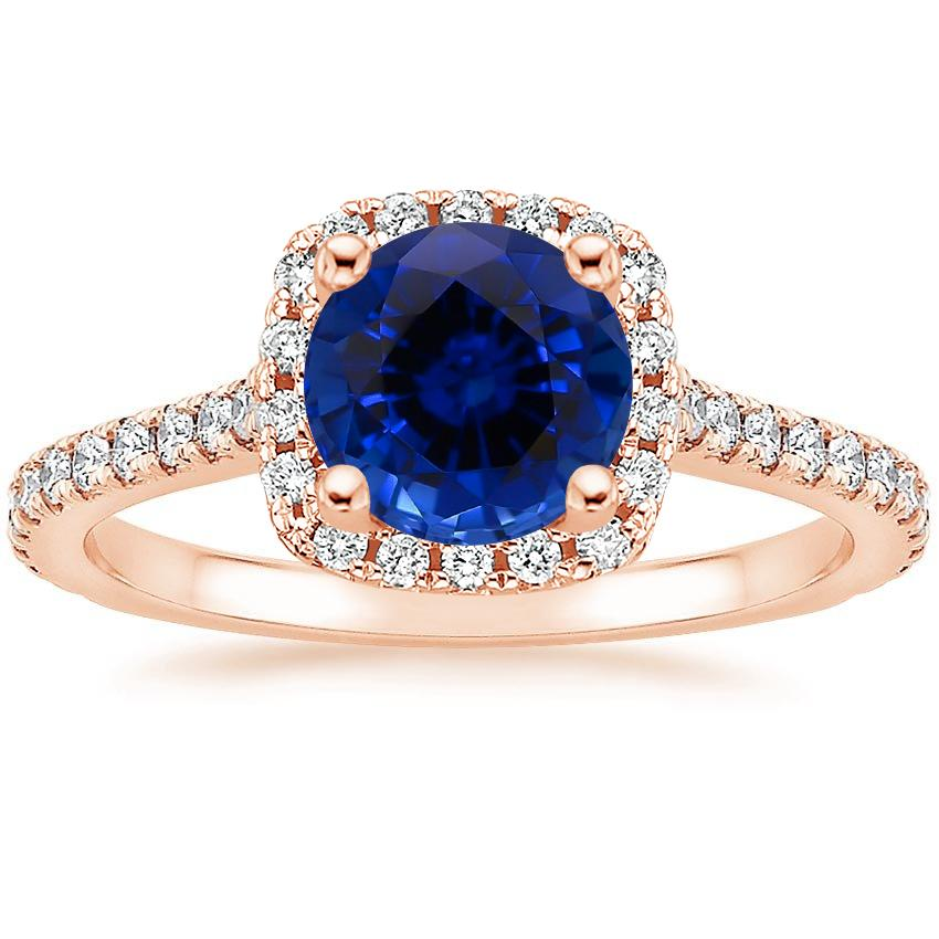 Rose Gold Sapphire Luxe Odessa Diamond Ring (1/3 ct. tw.)