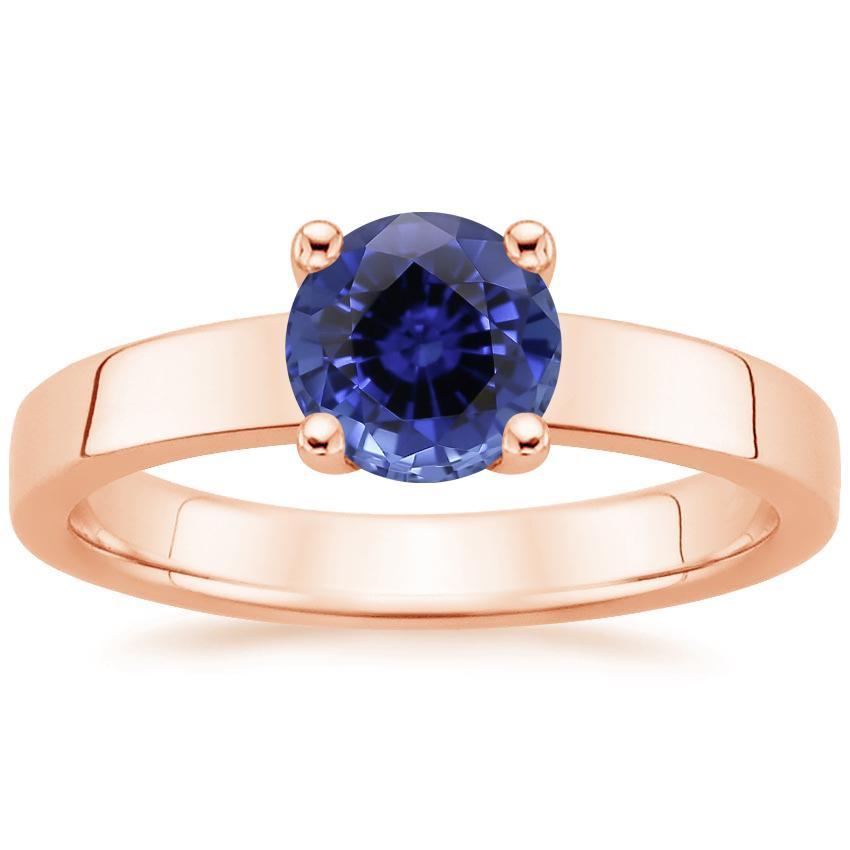 Rose Gold Sapphire Marina Ring