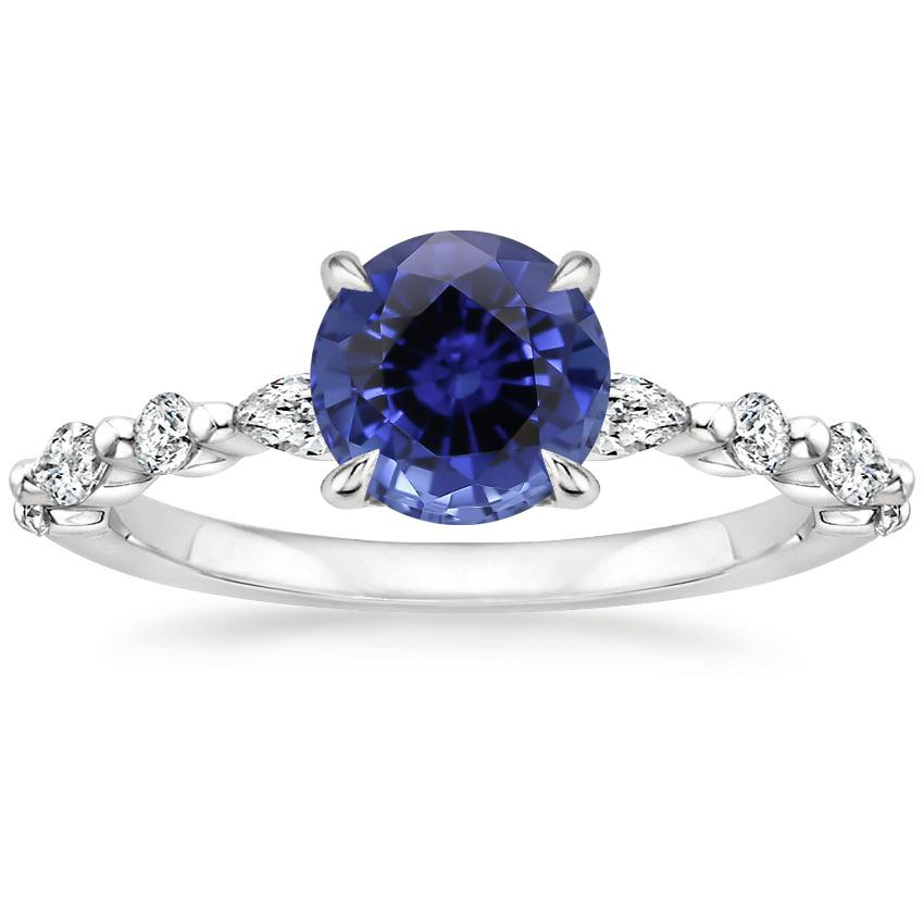 Sapphire Versailles Diamond Ring (1/3 ct. tw.) in 18K White Gold
