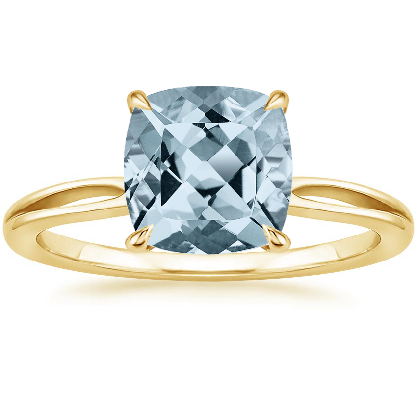 Yellow Gold Aquamarine Kalina Ring
