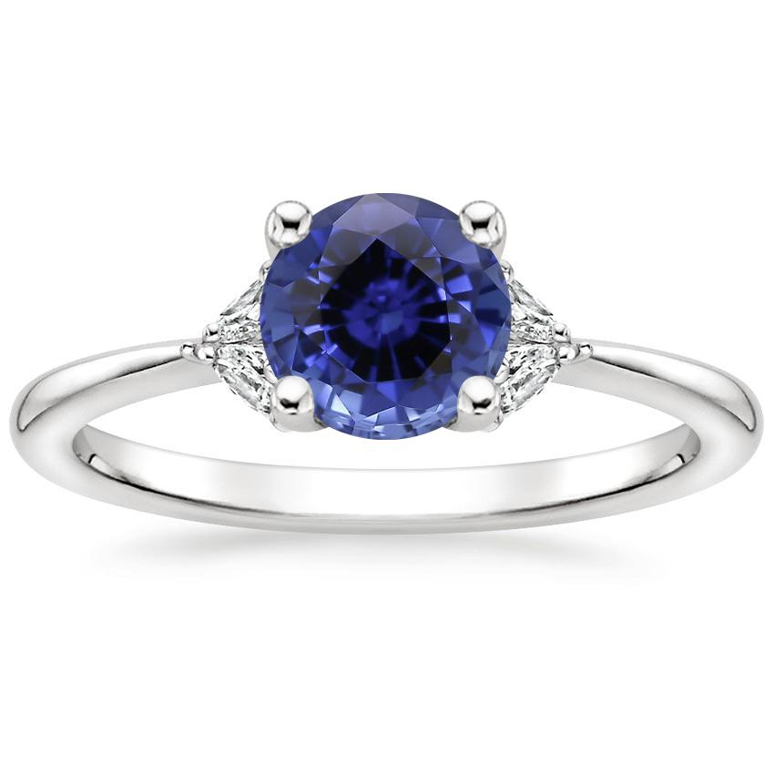 Sapphire Faye Diamond Ring in Platinum