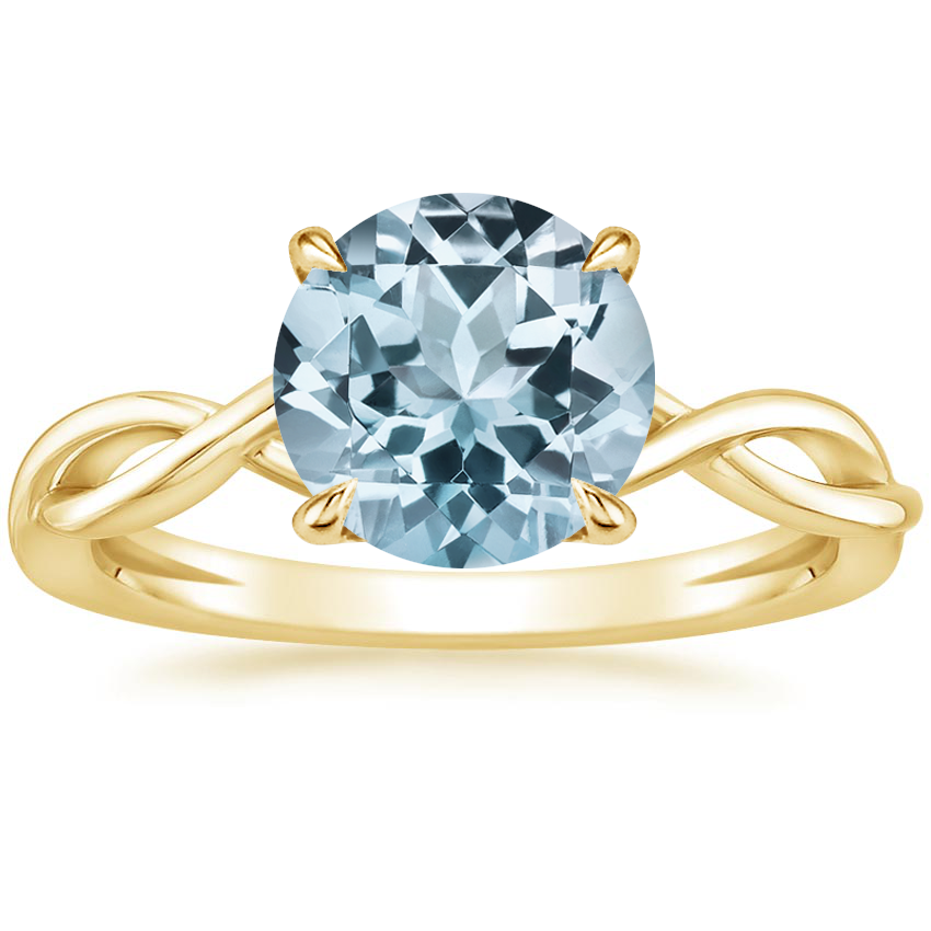 Yellow Gold Aquamarine Ayla Ring