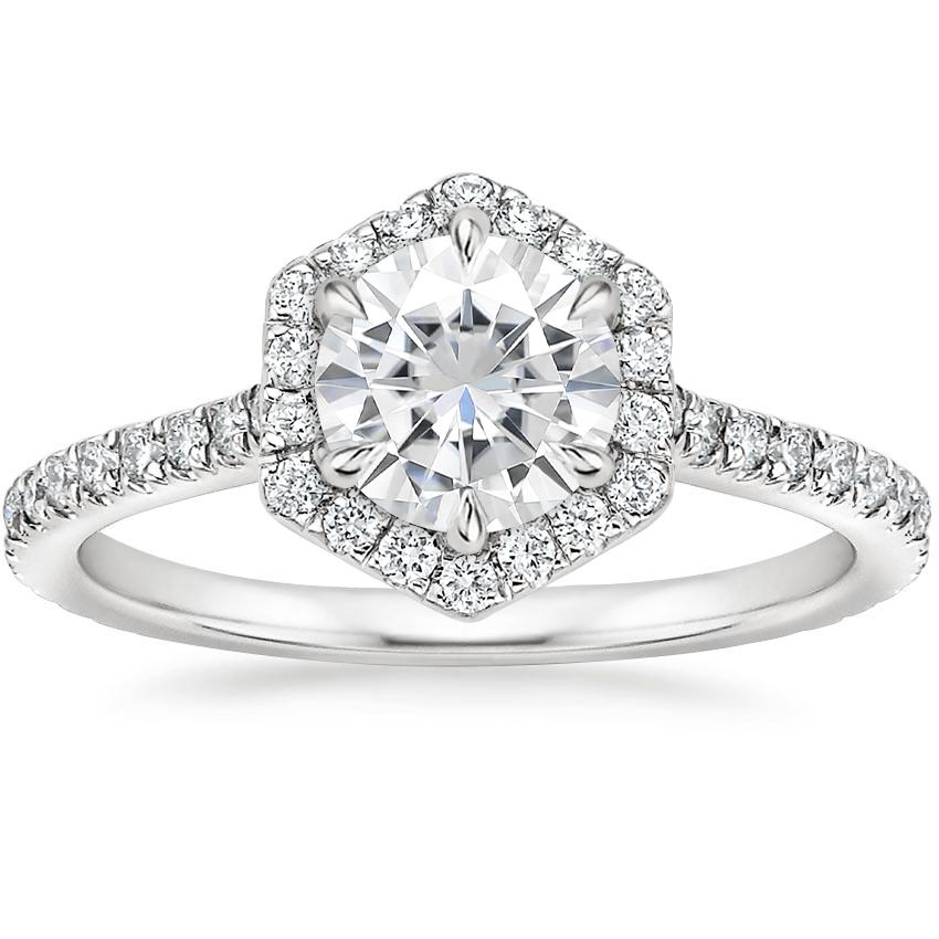 Moissanite Sonnet Diamond Ring (1/3 ct. tw.) in 18K White Gold