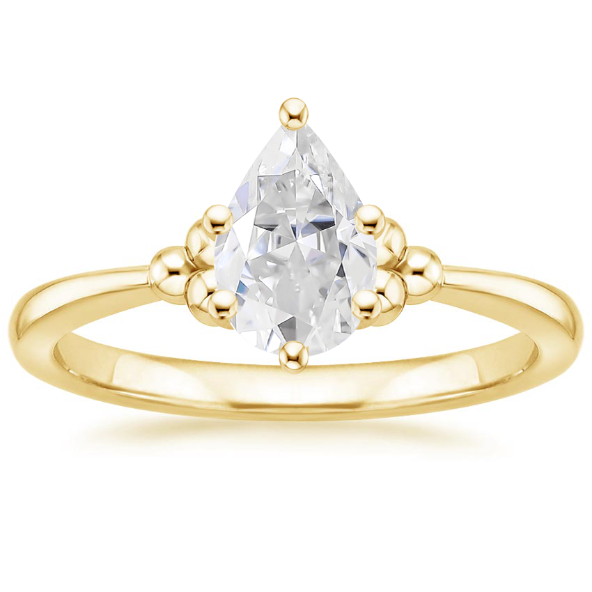 Yellow Gold Moissanite Soiree Ring