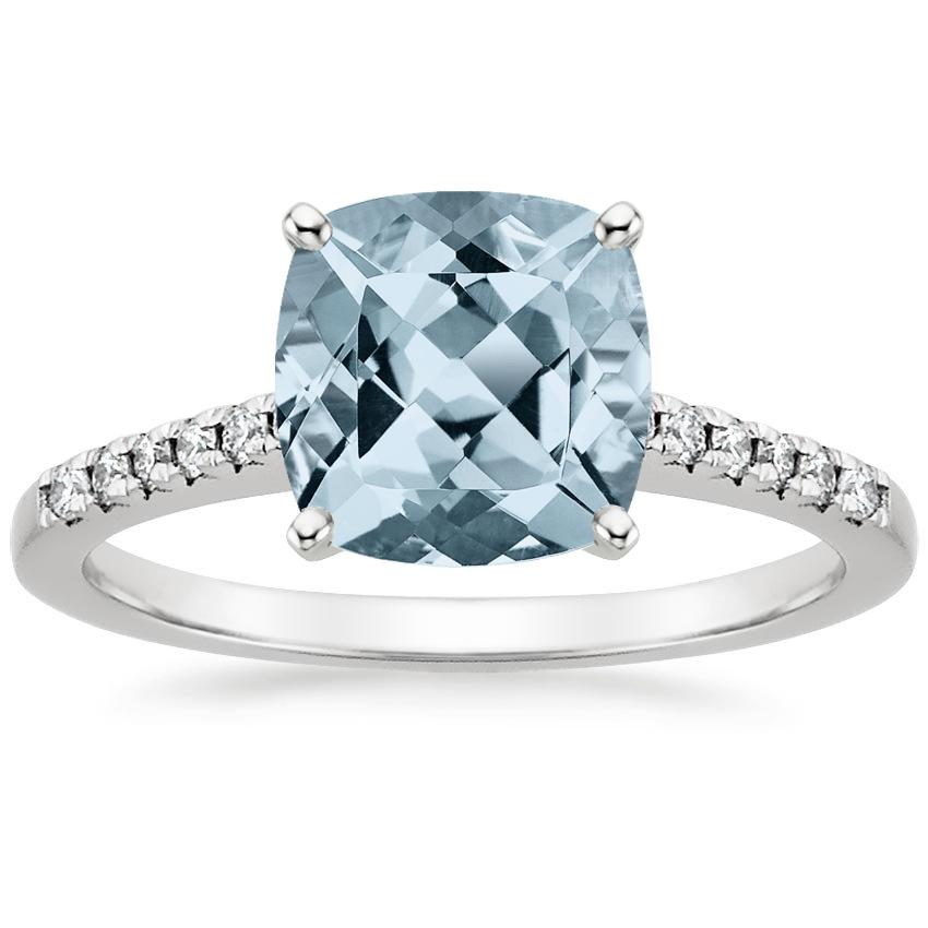 Aquamarine Sonora Diamond Ring in Platinum