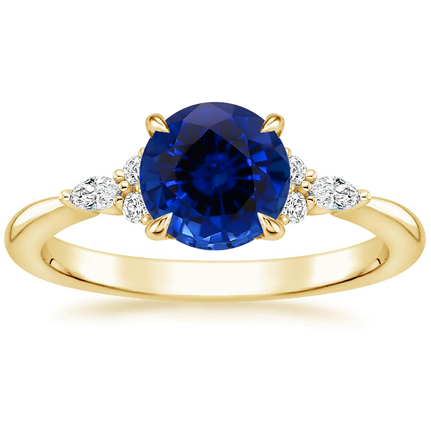 Yellow Gold Sapphire Nadia Diamond Ring