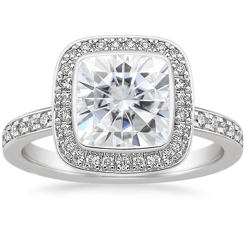 Moissanite Malia Diamond Ring (1/4 ct. tw.) in 18K White Gold