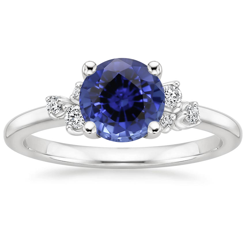 Sapphire Mia Diamond Ring in Platinum