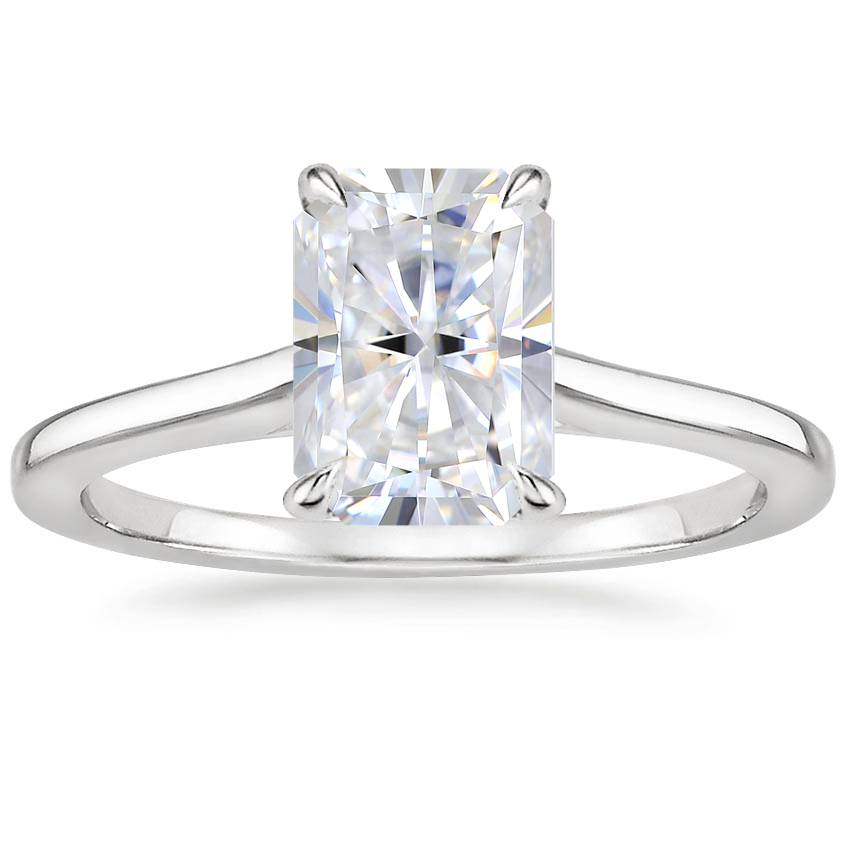 Moissanite Provence Ring in 18K White Gold
