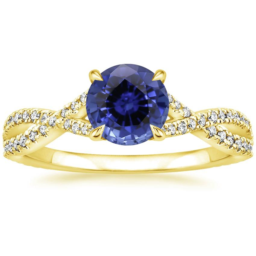 Yellow Gold Sapphire Chloe Diamond Ring (1/4 ct. tw.)