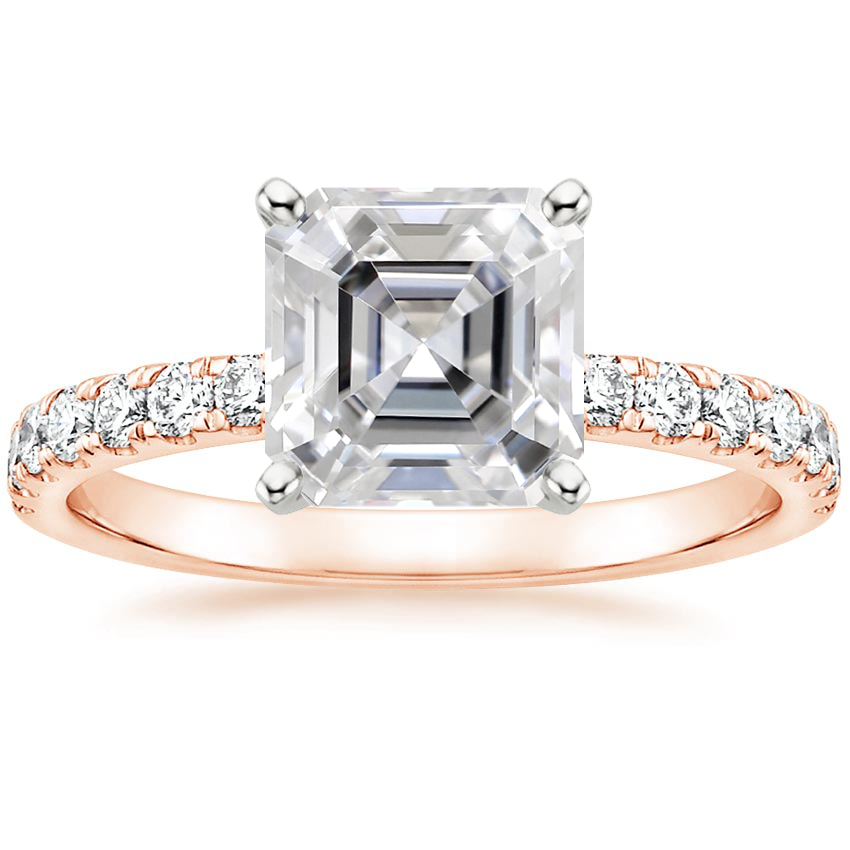 Rose Gold Moissanite Constance Diamond Ring (1/3 ct. tw.)