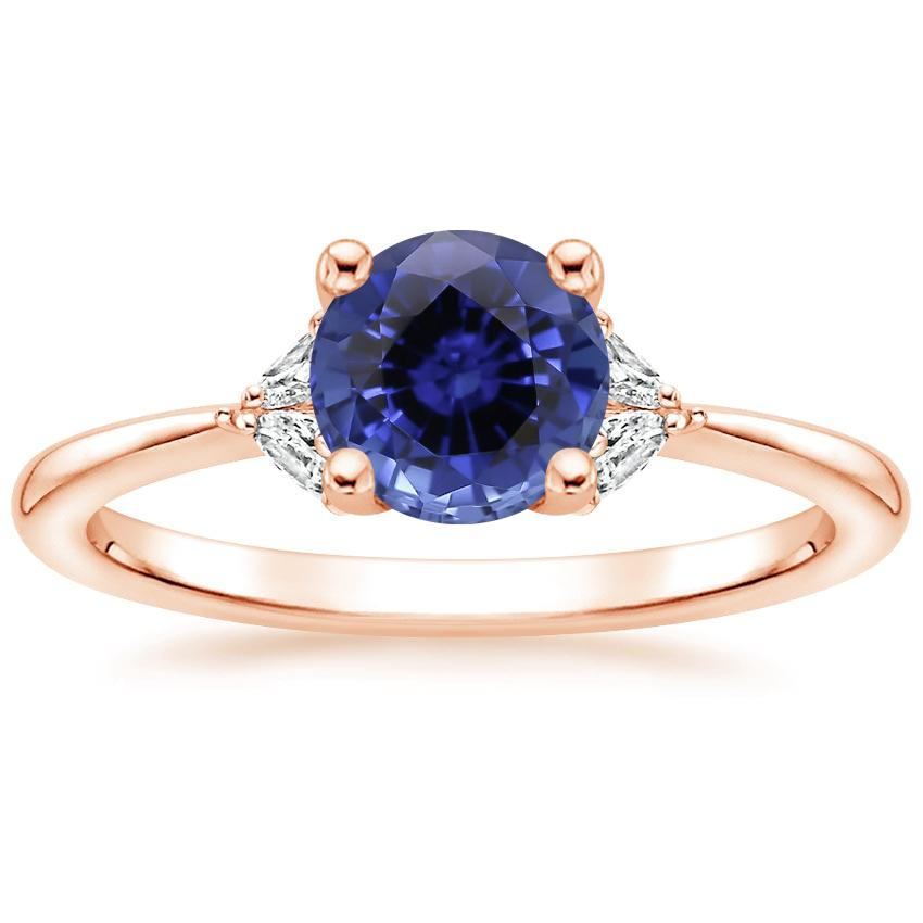 Rose Gold Sapphire Faye Diamond Ring