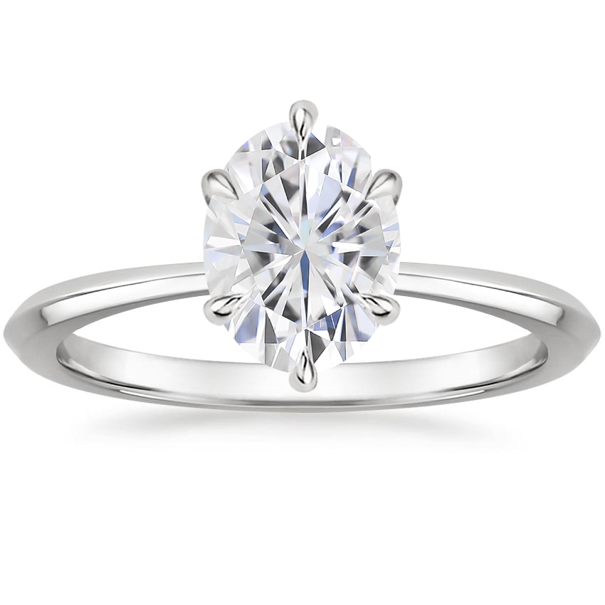 Moissanite Channing Ring in 18K White Gold