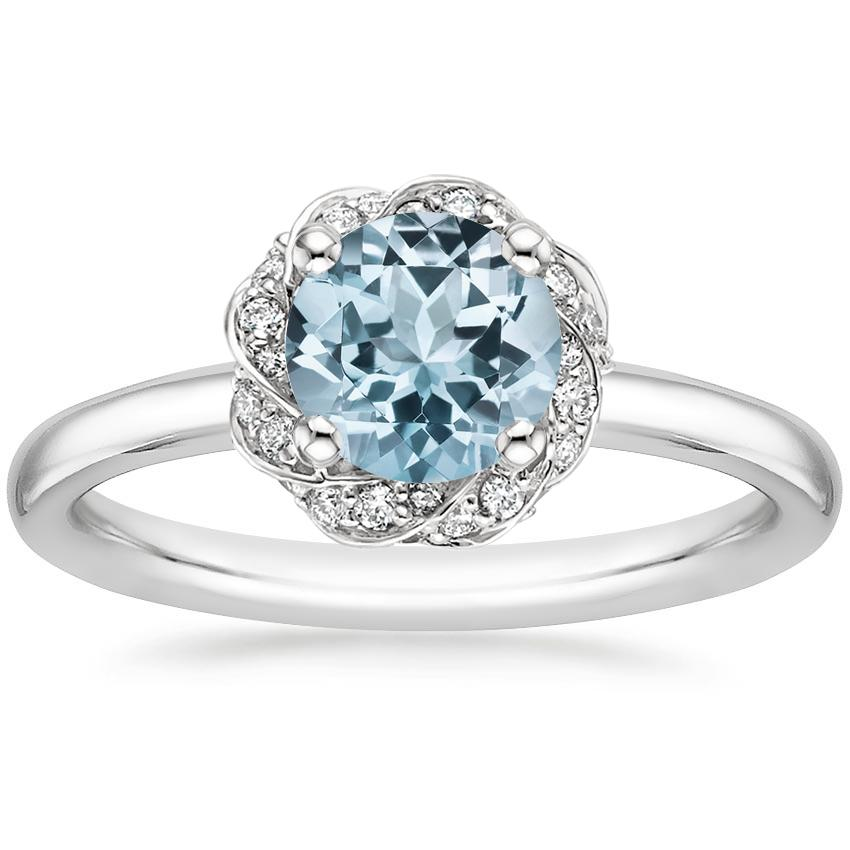 Aquamarine Corinna Diamond Ring in Platinum