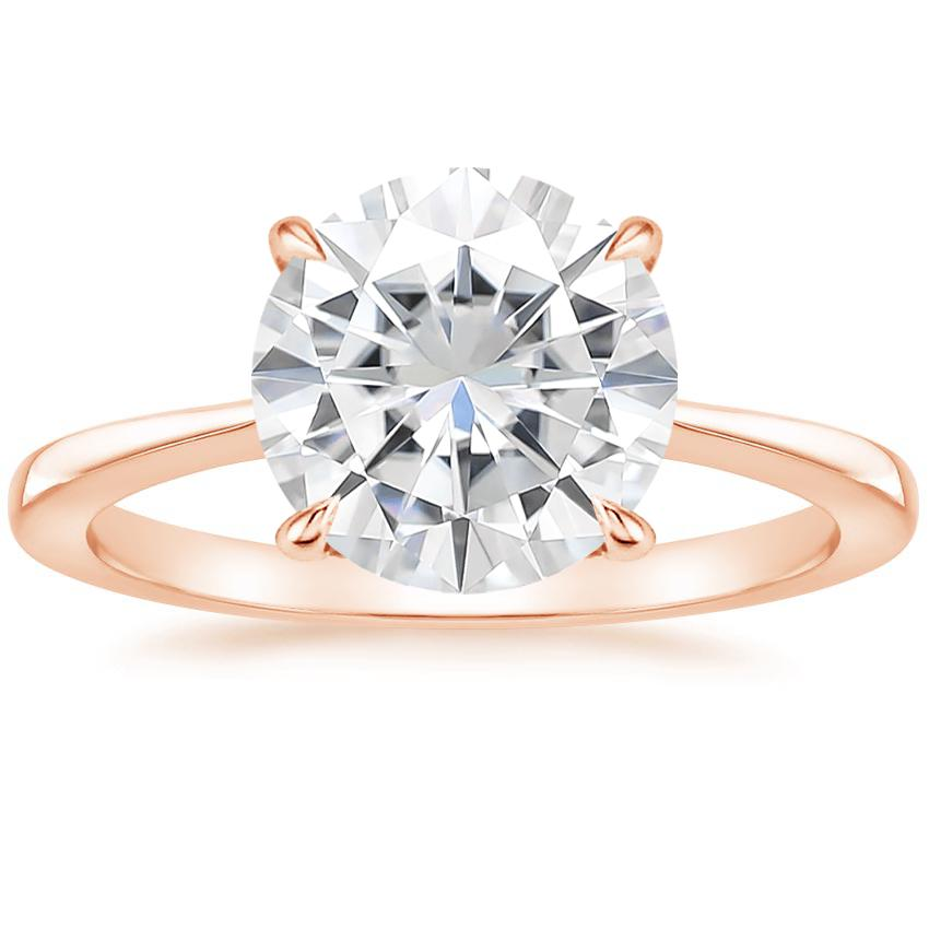 Rose Gold Moissanite Elle Ring