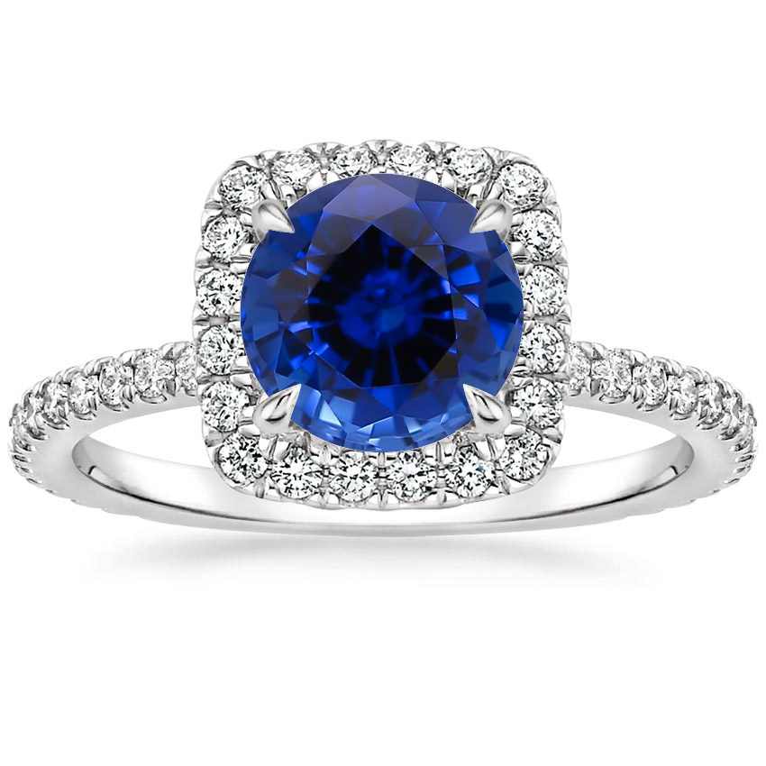 Sapphire Giselle Diamond Ring (1/2 ct. tw.) in Platinum