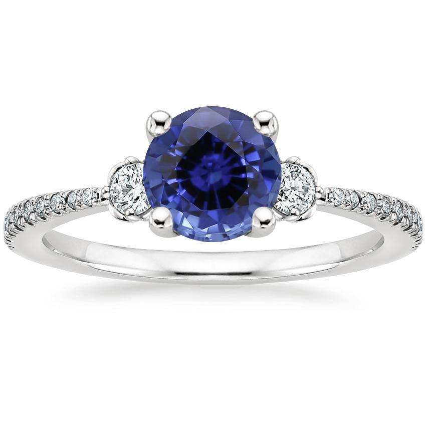 Sapphire Luxe Blossom Diamond Ring (1/5 ct. tw.) in 18K White Gold