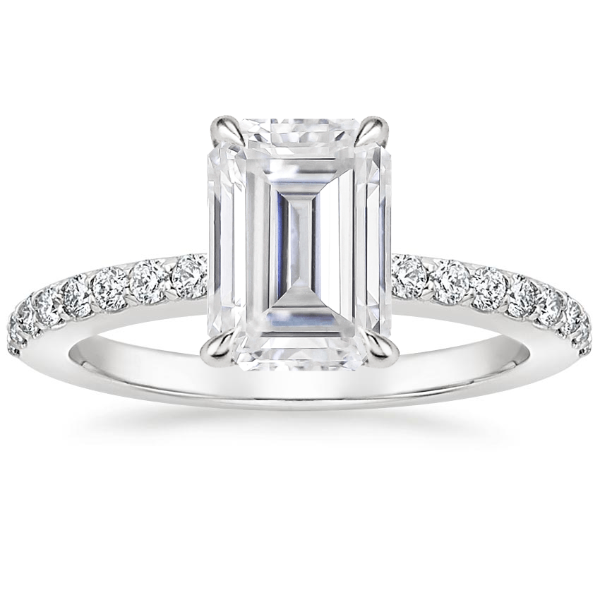 Moissanite Luxe Elodie Diamond Ring (1/4 ct. tw.) in 18K White Gold