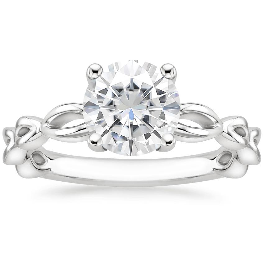 Moissanite Unity Ring in 18K White Gold