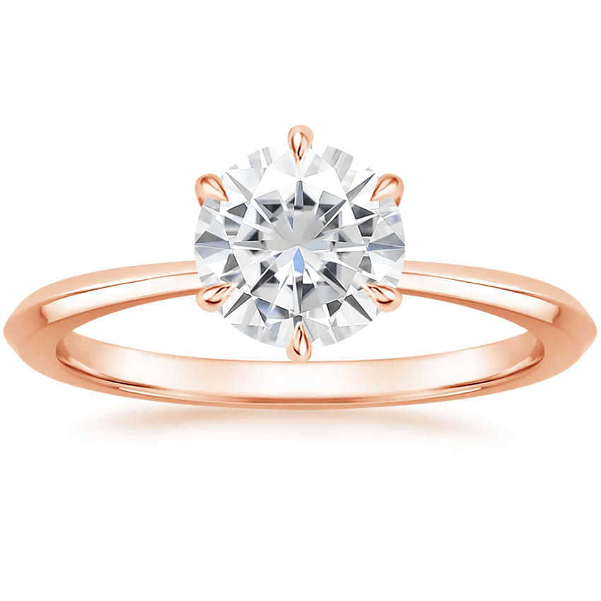 Rose Gold Moissanite Channing Ring