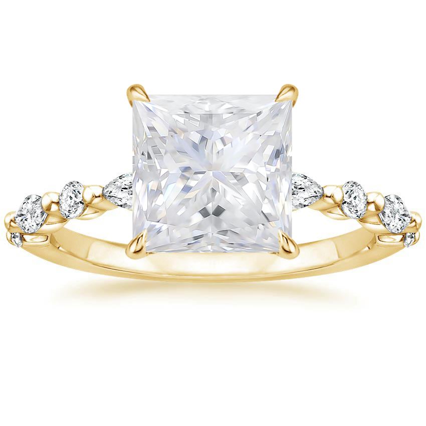 Yellow Gold Moissanite Versailles Diamond Ring (1/3 ct. tw.)