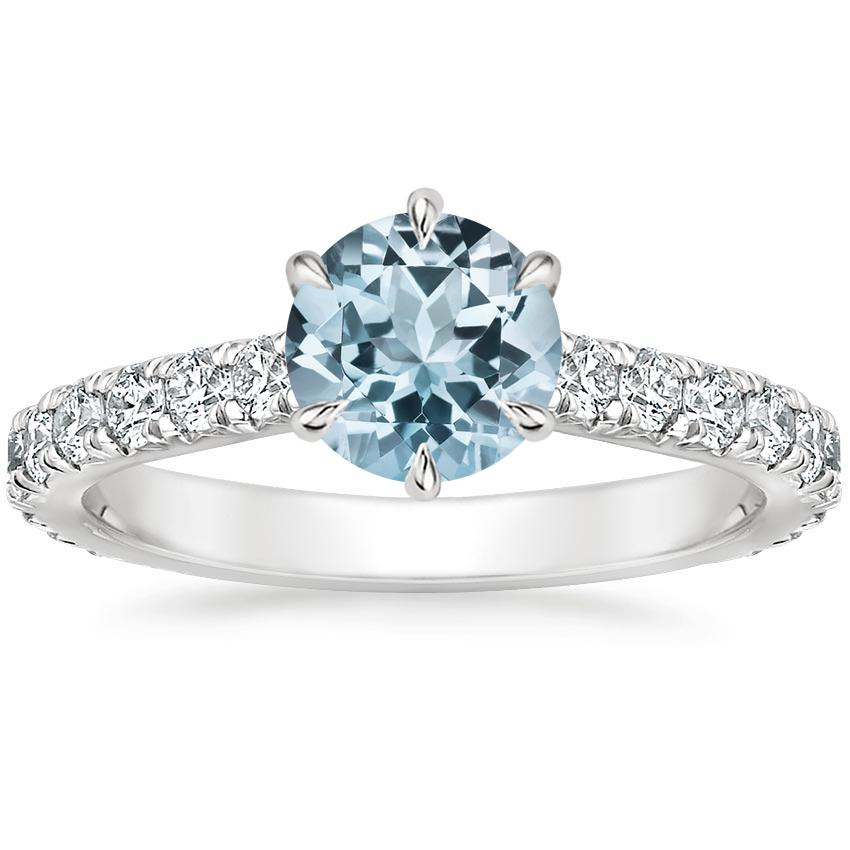 Aquamarine Luxe Sienna Diamond Ring (1/2 ct. tw.) in 18K White Gold
