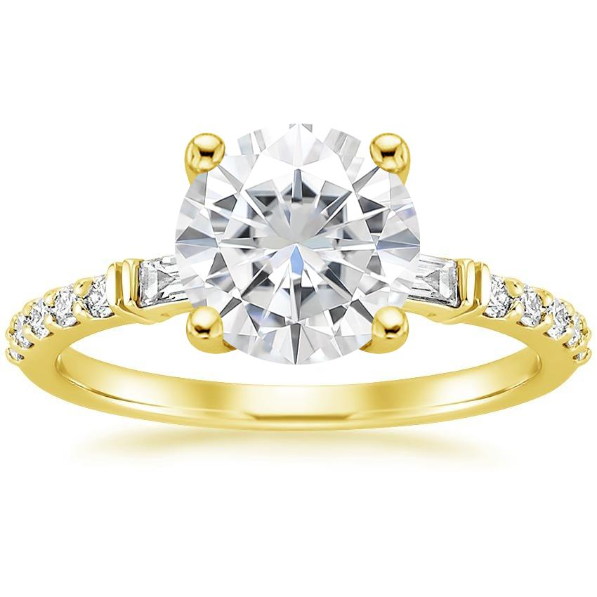 Yellow Gold Moissanite Regency Diamond Ring (1/4 ct. tw.)