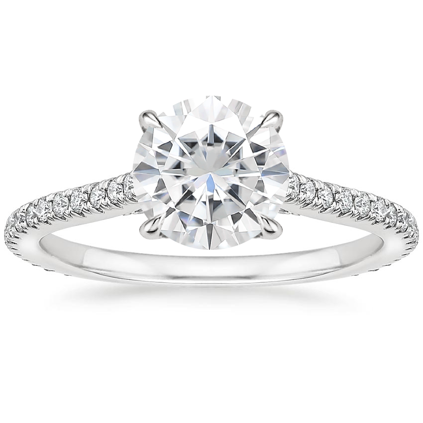 Moissanite Arbor Diamond Ring (1/3 ct. tw.) in 18K White Gold