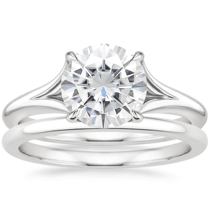PT Moissanite Reverie Bridal Set, top view
