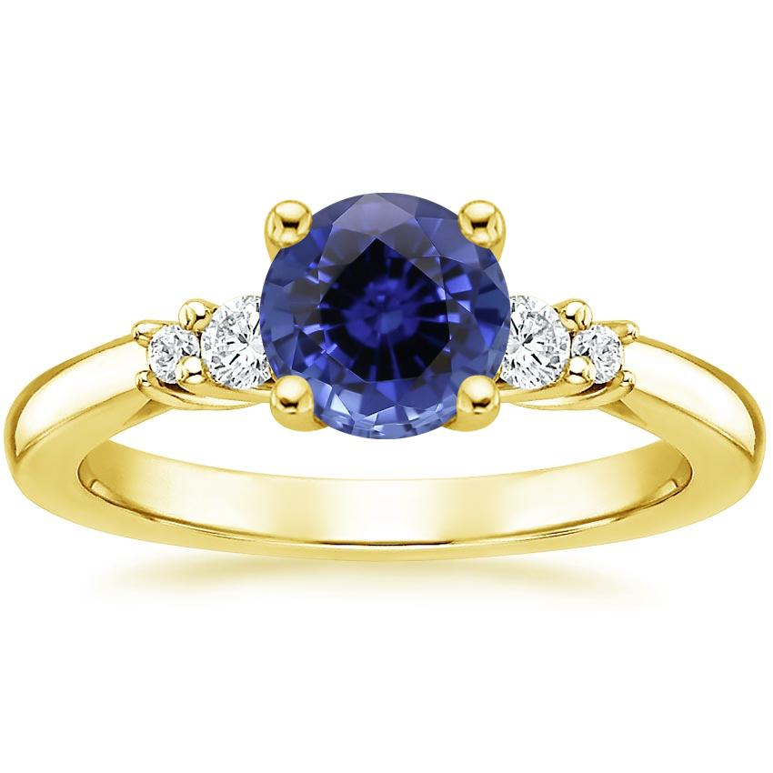 Yellow Gold Sapphire Rialto Diamond Ring