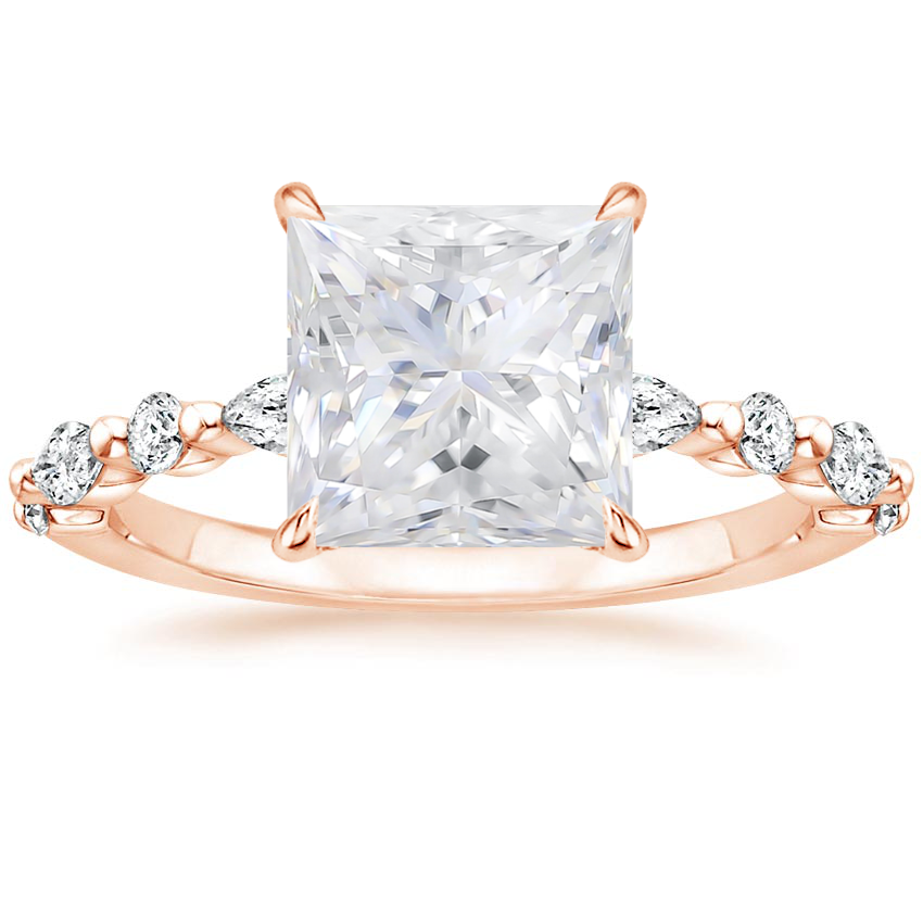 Rose Gold Moissanite Versailles Diamond Ring (1/3 ct. tw.)