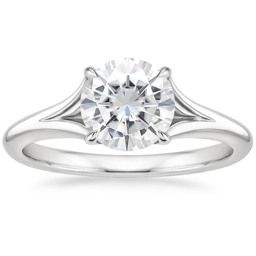 Moissanite Reverie Ring in 18K White Gold