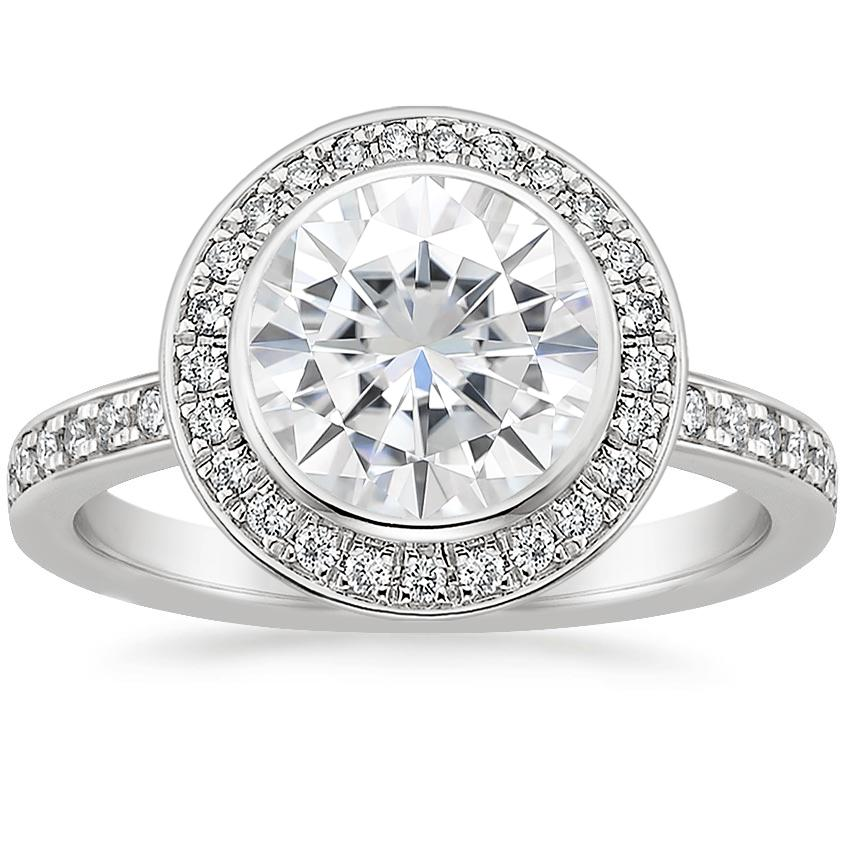 Moissanite Malia Diamond Ring (1/4 ct. tw.) in Platinum