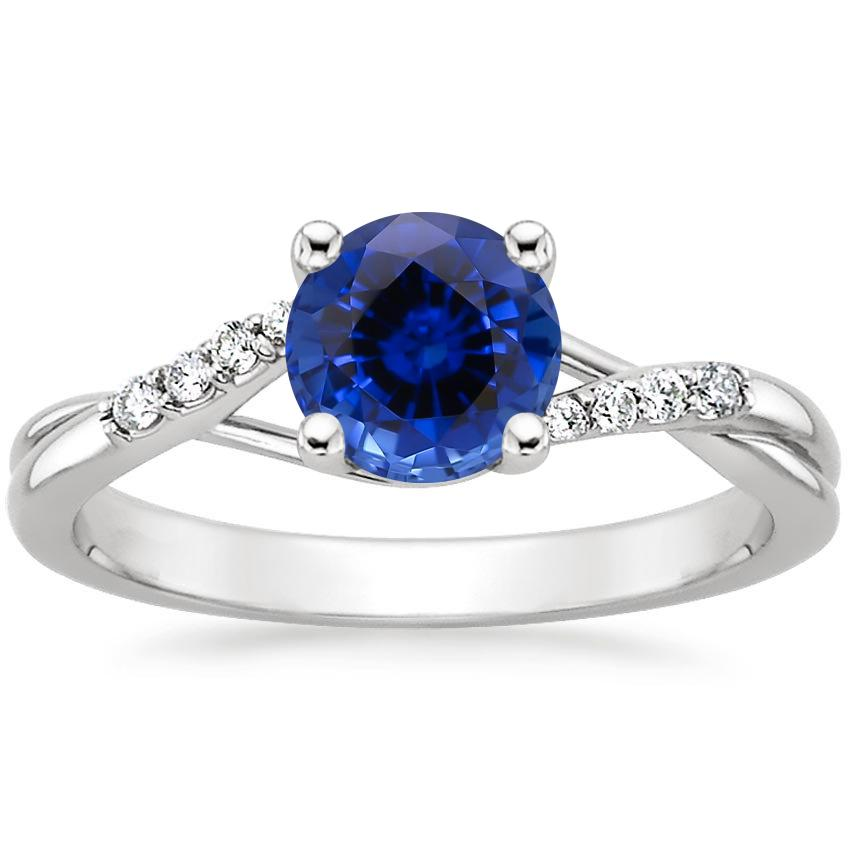 Sapphire Chamise Diamond Ring in 18K White Gold