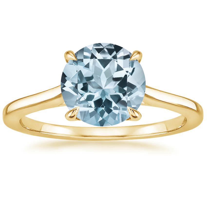 Yellow Gold Aquamarine Provence Ring